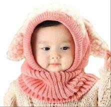 【On Dolce】選べる5色 うさぎちゃん風 ニット帽 ニット帽子 ベビー キッズ 赤ちゃん 子 子供 用 かわいい 防寒 BN005 (ピンク)
