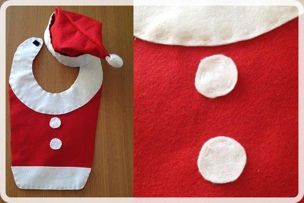 「クリスマス赤ちゃん衣装」を手作り!簡単な作り方♪