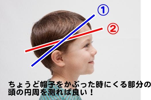 子供帽子サイズ測り方