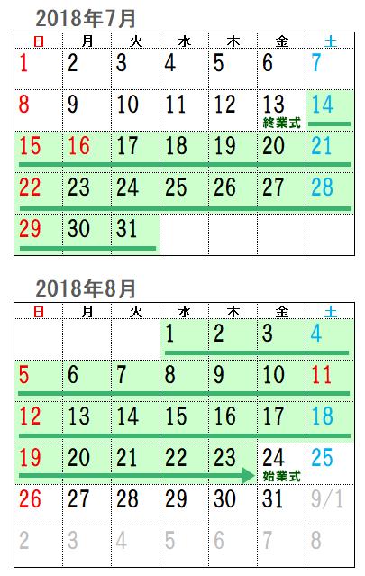 2018年夏休み2