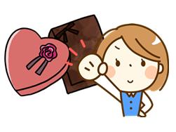 バレンタイン義理チョコ渡す1