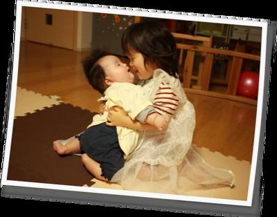 二人目育児抱っこキス