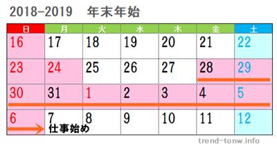 年末年始2018-2019福利厚生手厚い2