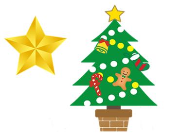 クリスマスツリーno星