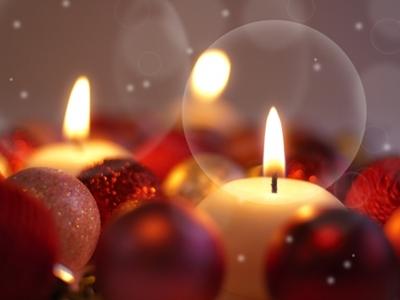 クリスマスツリー飾りキャンドル