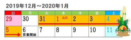 銀行の年末年始営業日2019-2020①
